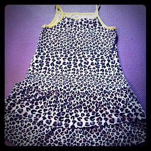 Leopard rainbow dress
